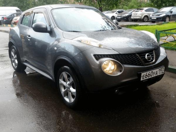 Выкупленный автомобиль Nissan Juke на сайте crashedcar.ru