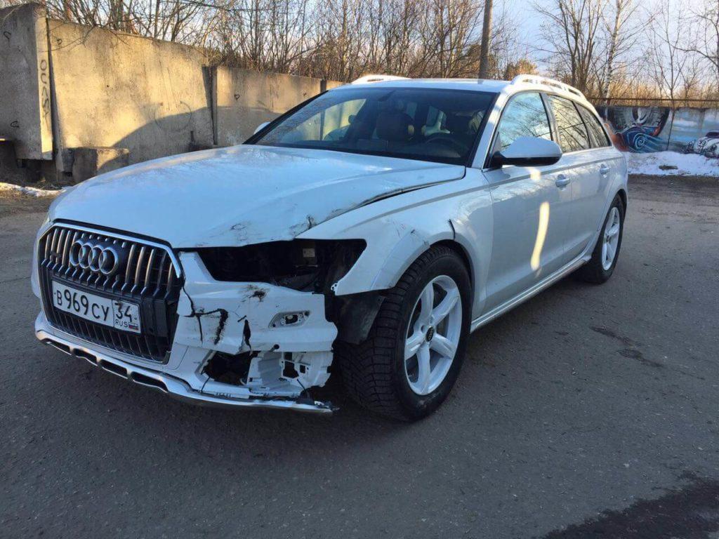 Выкупленный автомобиль Audi A6 allroad III в crashedcar.ru